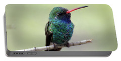 Broad-billed Hummingbird Portrait Portable Battery Charger