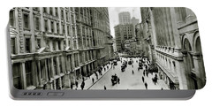 Broad St South Of Wall Street 1911 Portable Battery Charger