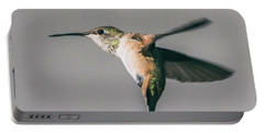 Broad-tailed Hummingbird Approaching Feeder Portable Battery Charger