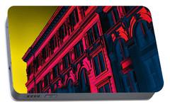 Broadway 118 In Fuschia Portable Battery Charger by Edgar Farrera