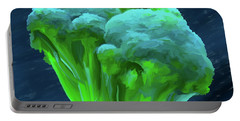 Broccoli 01 Portable Battery Charger by Wally Hampton