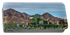 Broccoli Harvest Portable Battery Charger by Robert Bales