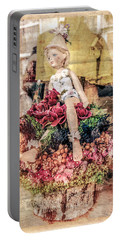 Portable Battery Charger featuring the photograph Broken Doll In The Window by Melinda Ledsome