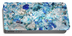 Broken Glass Blue Portable Battery Charger