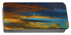 Portable Battery Charger featuring the photograph Broken Sunset by Mark Blauhoefer
