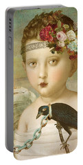 Portable Battery Charger featuring the digital art Broken Wing by Lisa Noneman
