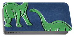 Brontosaurus Portable Battery Charger by Linda Woods