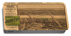 1909 Bronx New York Realtor Flyer Portable Battery Charger