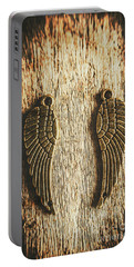 Bronze Angel Wings Portable Battery Charger