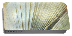 Bronze Blue Palm Frond Rh Portable Battery Charger