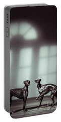 Bronze Greyhound Figures Portable Battery Charger