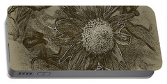 Bronzed Out Sunflower Portable Battery Charger