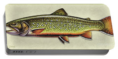 Brook Trout Id Portable Battery Charger