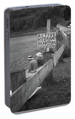 Portable Battery Charger featuring the photograph Brookfield, Vt - Floating Bridge 4 Bw by Frank Romeo