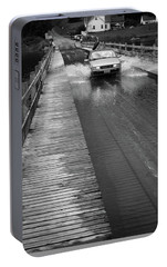 Portable Battery Charger featuring the photograph Brookfield, Vt - Floating Bridge Bw by Frank Romeo