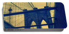New York City's Famous Brooklyn Bridge Portable Battery Charger by Paulo Guimaraes