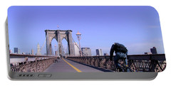 Brooklyn Bridge Bicyclist Portable Battery Charger