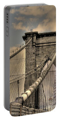 Brooklyn Bridge Portable Battery Charger by David Bearden