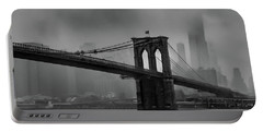 Brooklyn Bridge In A Storm 2 Portable Battery Charger