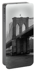 Brooklyn Bridge In A Storm Portable Battery Charger