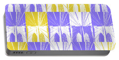 Brooklyn Bridge In Purple And Gold Square Portable Battery Charger