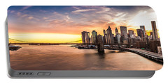 Brooklyn Bridge Panorama Portable Battery Charger