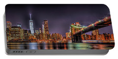 Portable Battery Charger featuring the photograph Brooklyn Bridge Park Nights by Theodore Jones