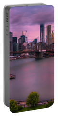 Brooklyn Bridge World Trade Center In New York City Portable Battery Charger