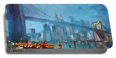 Brooklyn Bridge Portable Battery Charger by Ylli Haruni