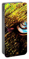 Portable Battery Charger featuring the digital art Brooklyn Snail by Iowan Stone-Flowers