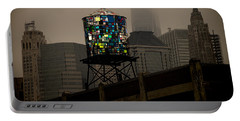 Portable Battery Charger featuring the photograph Brooklyn Water Tower by Chris Lord
