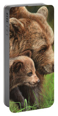 Brown Bear And Cub Portable Battery Charger