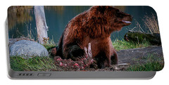 Brown Bear And Magpie Portable Battery Charger