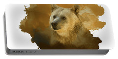 Brown Bear Portable Battery Charger by Steven Richardson