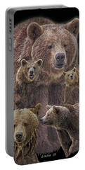 Brown Bears 8 Portable Battery Charger
