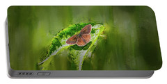 Brown Butterfly #h6 Portable Battery Charger