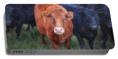 Brown Cow Portable Battery Charger by Craig J Satterlee