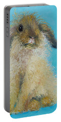 Brown Easter Bunny Portable Battery Charger