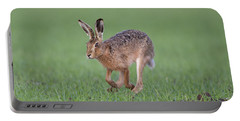 Brown Hare Running Portable Battery Charger