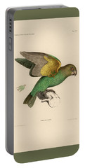 Brown-headed Parrot, Piocephalus Cryptoxanthus Portable Battery Charger