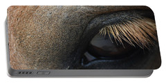 Brown Horse Eye Portable Battery Charger
