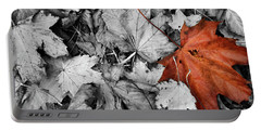 Brown Maple Leaf Portable Battery Charger