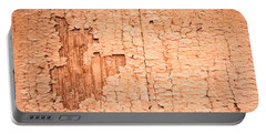 Brown Paint Texture Portable Battery Charger by John Williams