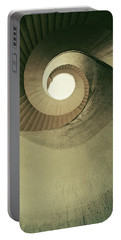 Portable Battery Charger featuring the photograph Brown Spiral Stairs by Jaroslaw Blaminsky