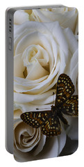 Brown Spotted Butterfly Portable Battery Charger