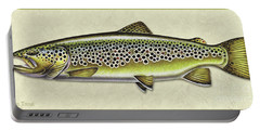 Brown Trout Id Portable Battery Charger