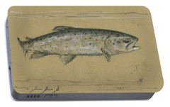 Brown Trout Portable Battery Charger by Juan Bosco