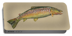 Brown Trout Jumping Portable Battery Charger