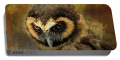 Brown Wood Owl Portable Battery Charger