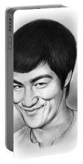 Bruce Lee Portable Battery Charger by Greg Joens